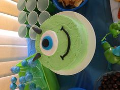 Mike Wazowski cake @Virginia Kraljevic Autry