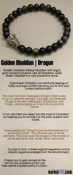 Beaded Yoga Bracelets | Meditation Jewelry  ♛ The #Dragon totem is a need for strength, courage, and fortitude. #Dragons are also messengers of balance, and #magic. ♛ #BEADED #Yoga #Mens #Good #Luck #womens #Jewelry #Cartier #Eckhart #Tolle #CrystalEnergy