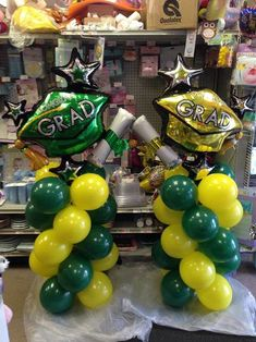 Party Outlet Balloons in Valparasio Graduation Party Themes, Graduation Balloons, Graduation Decorations, Grad Parties, Graduation Ideas, Balloon Tower, Balloon Columns, Balloon Garland, Balloon Centerpieces