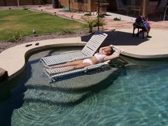Love the idea of a tanning shelf for the future inground pool.