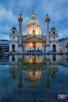Karlskirche by DarkElf Photography on 500px, Karlskirche (St. Charles Church) is a Baroque church located on the south side of Karlsplatz in Vienna, Austria