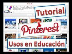 Vídeo 34'53 (español) - Tutorial sobre PINTEREST y sus usos en la Educación - https://www.youtube.com/watch?v=oOF4D9UE7xw