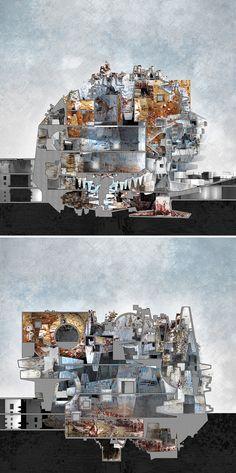 "Kellan CARTLEDGE & Carol KAN, ""Generative Morphologies."" Exterior perspective, rendering. los angeles CALIFORNIA"