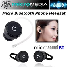 Micro Wireless Bluetooth Headset Connect phone/devices 3.0 #MicroMediaSoundTECH