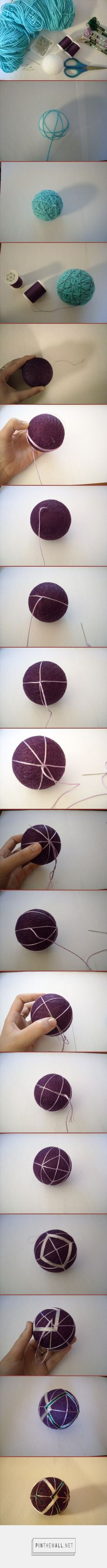 How to make temari – a basic tutorial | All Crafters Great and Small - created via http://pinthemall.net
