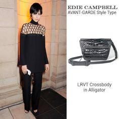 Edie Campbell in #Gucci + #LRVT Crossbody in Alligator