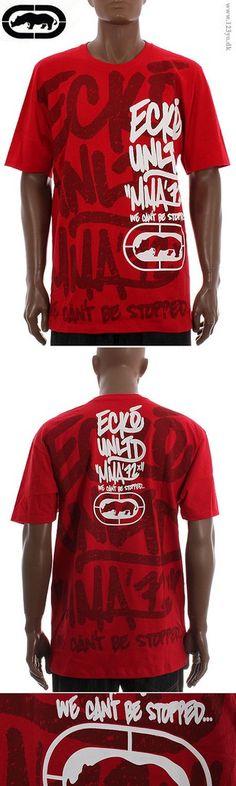 ECKO T-shirts i rød farve.   www.123yo.dk