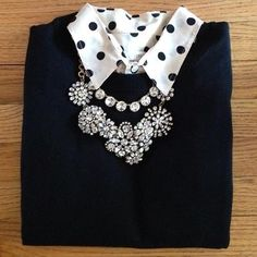 layered polka dots + statement piece // J.Crew Factory Dot Popover