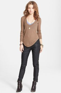 Free People 'Layering Me' Long Sleeve Thermal Tee available at #Nordstrom