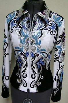 Equestrian Horse Show Western Bling Jacket Western Show Shirts, Western Show Clothes, Rodeo Shirts, Equestrian Outfits, Western Outfits, Western Wear, Horse Riding Clothes, Horse Show Clothes, Chemises Country