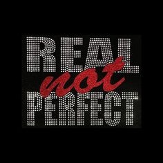 Grandma Quotes Discover Real Not Perfect Rhinestone & Glitter Vinyl Bling on Black Shirt - Many colors available - Contact me for shirt color change Bling Quotes, Love Quotes, Inspirational Quotes, Truth Quotes, Qoutes, Motivational, Custom Caps, Grandma Quotes, Bling Shirts