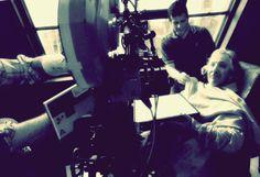 Alan Rickman behind scenes in Sweeney Todd