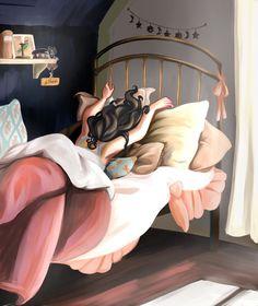 Morning dream Cute Cartoon Girl, Cartoon Pics, Cartoon Art, Cartoon Drawings, Cute Girl Wallpaper, Disney Wallpaper, Cartoon Wallpaper, Kalender Design, Mode Poster