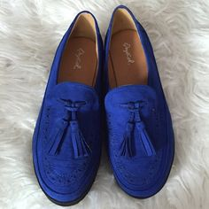 Blue black tassel creepers loafers shoes flats 7.5 Super cute creepers, I got them for me but they didn't fit :( no trades or pp Shoes