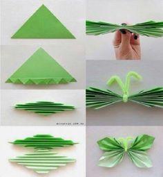Mariposa con papel