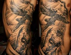 Religious Tattoo Flying Angel