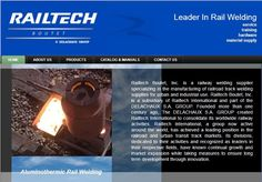 """Railtech Boutet, Inc was the first of the """"family"""" of 3 sites we did for Railtech International and can be visited at http://www.railtechboutet.com"""