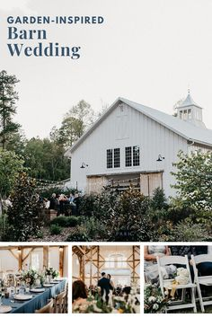 A Real Garden-Themed Barn Wedding: Genna + Haydn. Peek inside this wedding gallery and see how The Barn of Chapel Hill's onsite floral design studio, Wild Flora Farm, was able to be creative with golden peach + soft mustard floral arrangements making this barn wedding a stunner! Peek inside their wedding day gallery for more floral inspiration.