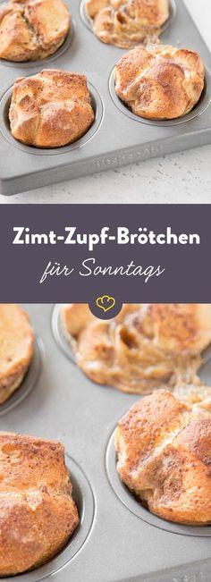 Dank fertigen Sonntagsbrötchen sind diese Zimt-Zupf-Brötchen in Windeseile gebacken. Und schmecken luftig-locker leicht nach schwedischen Zimtschnecken.  ♥️ Rezepte für Frühstück und Brunch