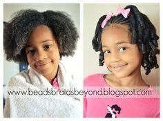 How to: Flexi-rod Set on Little Girls Natural Hair www.beadsbraidsbeyond.blogspot.com