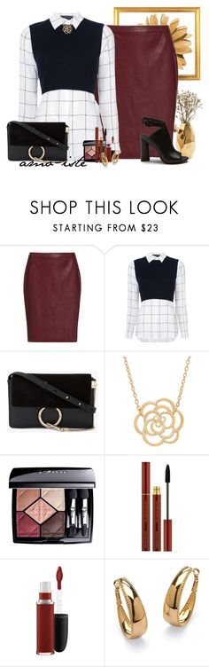 """""""Hugo Skirt"""" by amo-iste ❤ liked on Polyvore featuring Nate Berkus, HUGO, Alice + Olivia, Chloé, Lord & Taylor, Christian Dior, MAC Cosmetics and Palm Beach Jewelry"""