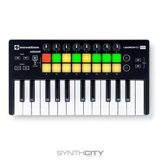 Easily Make MusicWe designed Launchkey Mini to make it easy and fun to produce music in Ableton Live. All the controls work as soon as you plug it in, and they're arranged in the layout we think wo. Microphone Studio, Midi Keyboard, Music Software, Ableton Live, How To Play Drums, You Sound, Vintage Guitars, Electronic Music, Really Cool Stuff