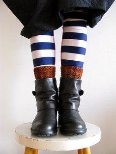 Stripey socks: Poppy's Wicked Garden  Socks: hand-knit  Shoes: Camper
