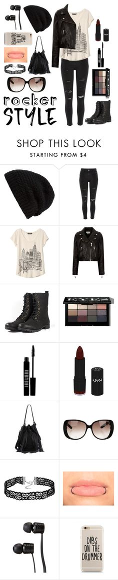 """""""Rocker Style"""" by calbug2003 ❤ liked on Polyvore featuring Rick Owens, River Island, Banana Republic, Étoile Isabel Marant, Bobbi Brown Cosmetics, Lord & Berry, NYX, Loeffler Randall, Gucci and Vans"""