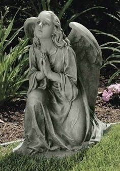 25 praying garden angel kneeling 25 tall resin stone mix comes boxed ...