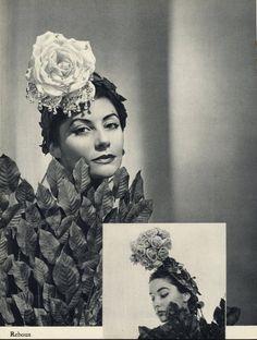 Caroline Reboux 1954 Hats Fashion Photography
