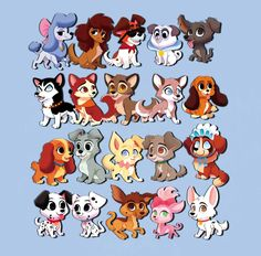 Arte Disney, Disney Fan Art, Disney Magic, Disney Dogs, Baby Disney, Disney Horses, Disney Crossovers, Disney Memes, Cute Animal Drawings