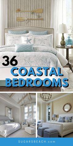 Beach House Tour, Beach House Bedroom, Beach Bedroom Decor, Beach Room, Bedroom Themes, Beach House Decor, Home Bedroom, Bedroom Ideas, Seaside Bedroom