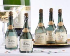 48 Mini Champagne Bottle Bubbles with Bubble Wand Wedding Shower Favors $48.00
