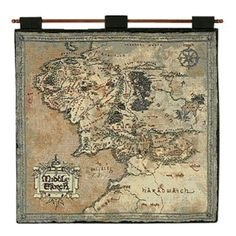 Map of Middle-Earth Tapestry Wall Hanging | Lord of the Rings Maps Shop