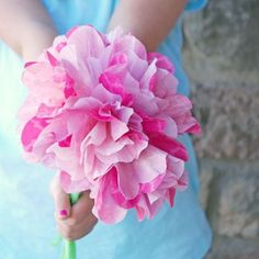 Decorate your home or create a beautiful gift with coffee filter flowers. Great kids craft for Spring and Mother's Day.