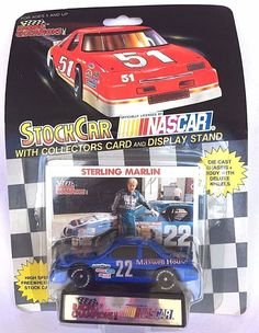 LIONEL NASCAR STOCK CAR RACING STERLING MARLIN 22 CAR COLLECTORS CARD & STAND #LionelNASCAR #Ford $5.00#Nascar Stock Car#Racing Collectibles#Winston Cup Racing