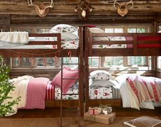 Pottery Barn Kids shares tips on decorating a boys room. Find boy bedroom design ideas that are creative and versatile. Boys Room Decor, Kids Bedroom, Kids Rooms, Bedroom Ideas, Rustic Bunk Beds, Pottery Barn Bedrooms, Christmas Bedding, Bunk Rooms, Shared Bedrooms