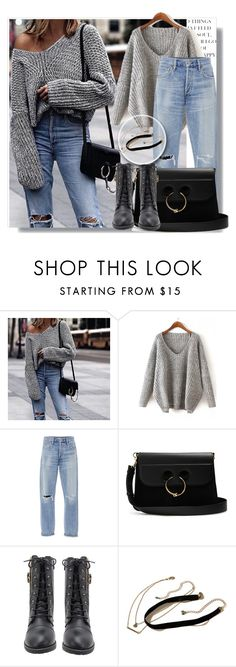 """""""Untitled #12"""" by alma77 ❤ liked on Polyvore featuring beauty, Citizens of Humanity, J.W. Anderson and Hollister Co."""