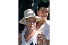 """Nancy and Ronald Reagan  """"Let's get married,"""" he said one night over dinner at a local hangout, to which she replied simply, """"Let's."""""""