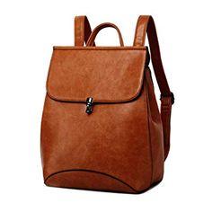 7834e2d28c Amazon.com  WINK KANGAROO Fashion Shoulder Bag Rucksack PU Leather Women  Girls Ladies Backpack