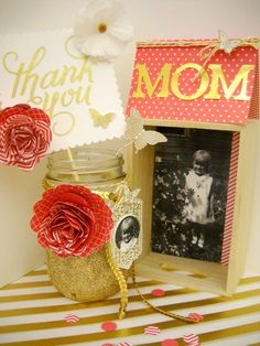 This is a cute gift for a mother, friend or even this week for teacher appreciation week. You can find this flower die at www.stampersjoy.stampinup.net