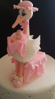 Beautiful Stork with baby is excellent as a Cake Topper or Centerpiece Decorations for baby shower or new mommy to be gift Stork Approx 6.2 inches tall X 3 inches wide Baby Approx 1.3 inches High Available in Baby Pink and Baby Blue with Caucasian Babies  FOR OTHER BABY SHOWER, BAPTISM OR FIRST COMMUNION FAVORS AND CAKE TOPPERS VISIT OUR SHOP @ WWW.ETSY.COM/SHOP/PARTYFAVORSMIAMI  Thank You