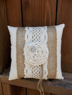 Ring Bearer Pillow by ChicLittleSomethings on Etsy, $18.00