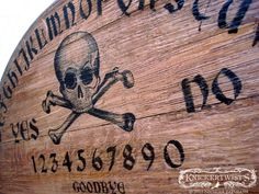 A skull and crossbones spirit board. What do you think pirates did in their spare time?