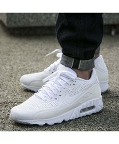 sports shoes 2119f 4e578 Nike Air Max 90 Ultra Moire All White Trainers Mens Sale UK All White  Trainers,