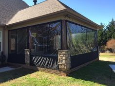 Outdoor Living Patios, Outdoor Curtains For Patio, Screened In Porch Diy, Screened Gazebo, Outdoor Gazebos, Diy Porch, Diy Patio, Backyard Patio, Porch Ideas