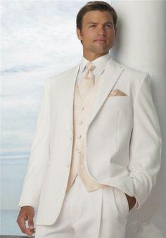 d5e43f678 Hombre de los trajes para la boda de marfil hecho a medida de solapa de pico