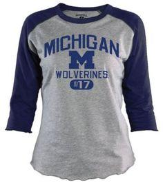 09c995c954b32b Amazon.com   NCAA Michigan Wolverines Women s Baseball Tee