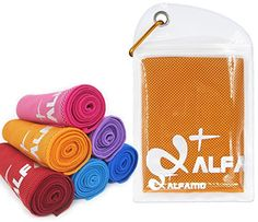 Cooling Towel for Instant Relief  40 Long As Scarf  XL Ultra Soft Breathable Mesh Yoga Towel  Keep Cool for Running Biking Hiking Golf  All Other Sports Waterproof Bag Packaging with Carabiner ** You can find more details by visiting the image link.