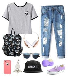 """alien "" by jordangirl2313 ❤ liked on Polyvore featuring mode, Frends, Chicnova Fashion, Vans, LifeProof, Christian Dior, Alexander Wang, Eos, women's clothing en women"